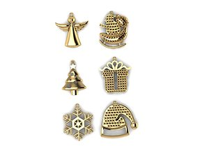 3D print model Christmas pendants