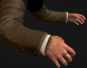 3D model First Person Arms coat FPS RIGGED animated