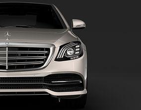 3D model Mercedes Benz S 450 Lang V222 2018