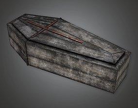 CEM - Cemetery Coffin 4 - PBR Game Ready 3D asset