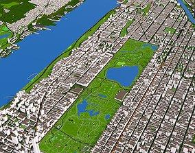 3D model Upper Manhattan New York 2 September 2020