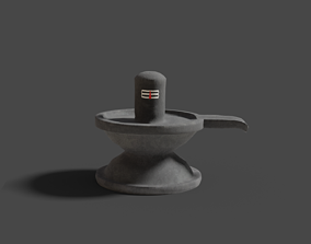 Lord shiva low poly game ready model low-poly