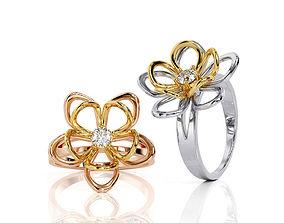 3D print model Flower Ring R 0091