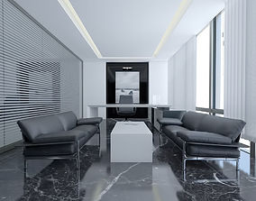 3D Modern Luxury Office - Manager Room Scene design