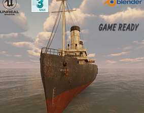 Passenger Ship Lowpoly 3D model VR / AR ready