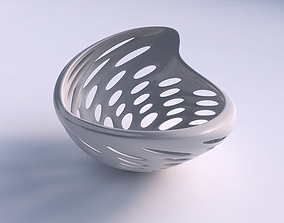 3D printable model Bowl wide seed shell with smooth cuts