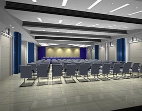 3D center Luxury architectural Hall Lobby
