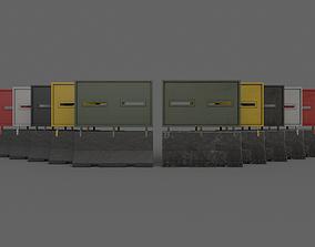 3D asset PBR Concrete Roadblock Barrier V6