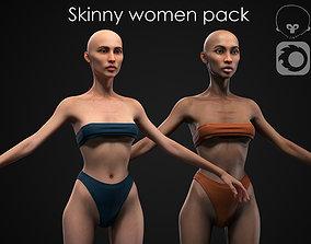 3D model Skinny women