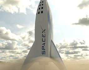 3D model Falcon big rocket
