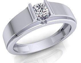 Fancy Solitaire Ring 3d Model And Render Detail