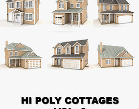Hi-poly cottages collection vol 6 attached 3D