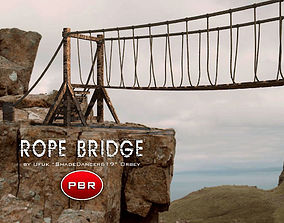 3D model PBR Rope Bridge