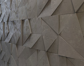 Abstract 3D Wall panel game-ready