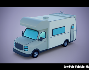 Low Poly Vehicle - Motorhome 3D model
