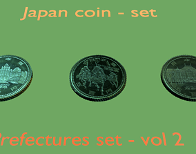 Japanese prefectures coin - set - 2 3D model