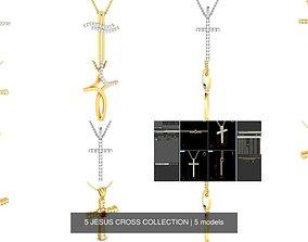 5 JESUS CROSS COLLECTION 3D