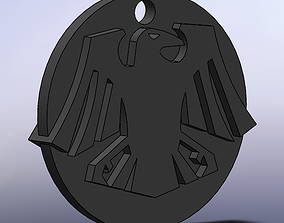 Raven Badge 3D printable model