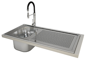 3D Professional Sink And Mixer