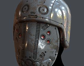 VR / AR ready Gas mask helmet 3d 6