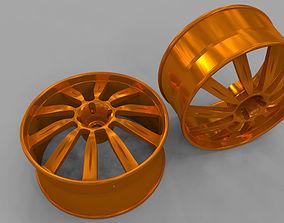 3D wheel car racing rim
