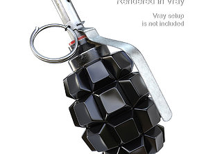 Grenade F1 with Keyboard Buttons PBR 3D model