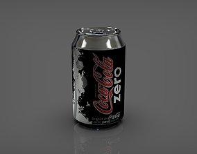 3D asset coca-cola zero 033l