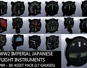 WW2 IMPERIAL JAPANESE FLIGHT INSTRUMENTS - ASSET 3D model