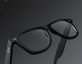 3D model people Ray-Ban New Wayfarer glasses