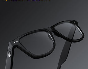 Ray-Ban New Wayfarer glasses 3D model
