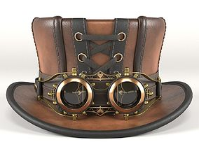 3D Steampunk Hat with Goggles