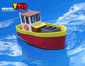 Small fishing boat by Printed-Toys 3D printable model