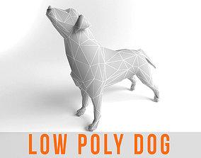 3D asset Dog Labrador Retriever Low Poly Game Ready