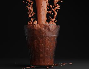 Fluid simulation 3D asset