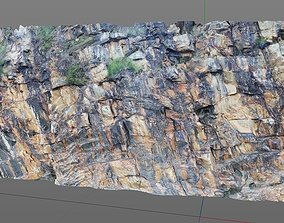 3D Scanned Rock and Cliff face 004