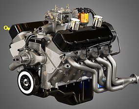 572 Engine - V8 Muscle Car Engine 3D model