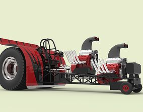 Twin-engined pulling tractor 3D model