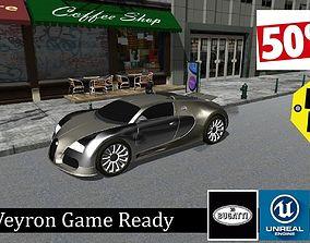 Bugatti Veyron - Game Ready Vehicle 3D asset