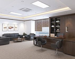 The director office room 3d interior design scene 01