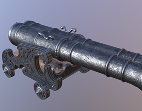 Cannon Unicorn 32 pound 3D model VR / AR ready