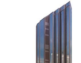 Angular City Skyscraper 3D