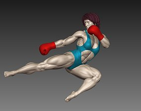 Woman boxer sculptures N4 3D model