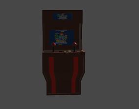 3D model low-poly gaming maching