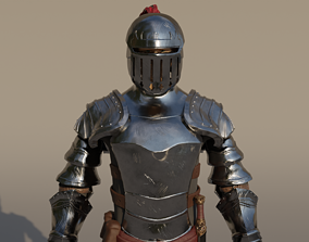 3D model Knight Rigged