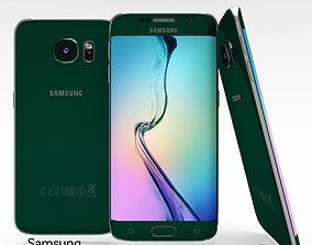 3D asset Samsung Galaxy S6 Edge Emerald Green