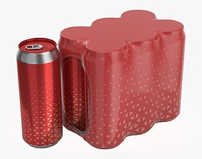Packaging for 500ml six standard beverage soda 3D model 1