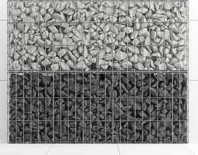 Gabion stone rock big 3D