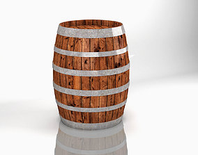 whiskey Wine Barrel 3D model