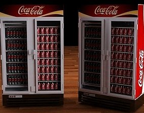 3D asset Coca Cola refrigerator