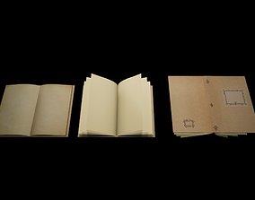Open Book 3D asset